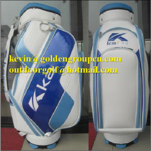 OEM Golf Bag Professional PU Blue CB610 Caddie Golf Bag pictures & photos