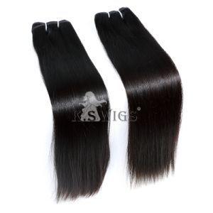 Double Drawn 100% Indian Remy Human Hair Raw Remy Hair pictures & photos