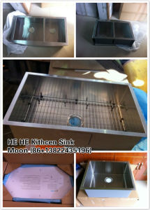 stainless Steel Handmade Square Sink for Kitchen with Cupc Cetificated pictures & photos