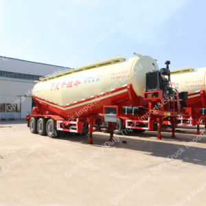 3 Axle 45m3 Bulk Cement Tank Semi Trailer with Air Compressor and Desiel Engine pictures & photos