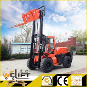 Rough Terrain Forklift 3.5 Ton 4X4 Drive All Terrain Forklift pictures & photos