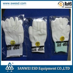 ESD White PU Top Fit Glove 3W-9518-7 pictures & photos