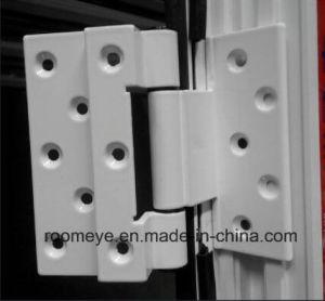 Australian Standard Wood Grain Color Aluminum Casement Door with Double Glass pictures & photos