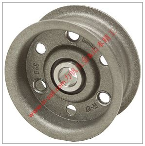 Aluminum Synchronous Flat Belt Pulley with Flanges pictures & photos