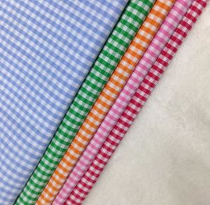 90% Poly 10% Cotton Yarn Dyed Monocheck Fabric for Lining pictures & photos