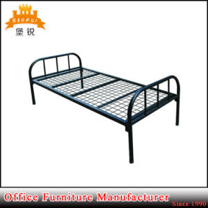School Dormitory Metal Strong Adult Iron Steel Single Bed pictures & photos