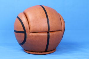Cool Basketball Leather Baby Furniture with Ottoman Stool (SF-107) pictures & photos