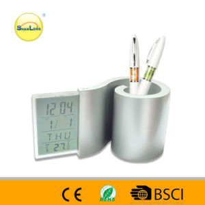 2014 High Quality Alarm Clock with Pen Holder