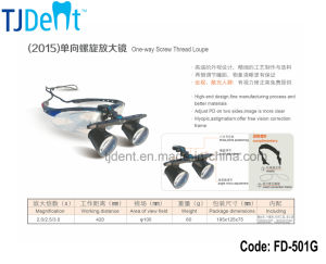 Pupil Distance Quick Adjust with Vision Correction Frame Comfortable Dental Loupe (FD-501G) pictures & photos