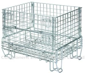 Wire Mesh Storage Cages, Steel Cage, Stackable Cage, Supermarket Cage, Mesh Container pictures & photos