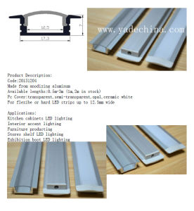 Short Embedded LED Aluminum Extrusion Profile pictures & photos