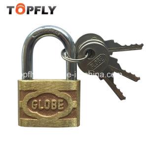 Globe Brand Pressing Brass Padlock