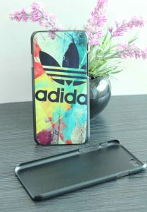 Black Plastic Graffiti UV Printing for iPhone 6 Protect Case 02