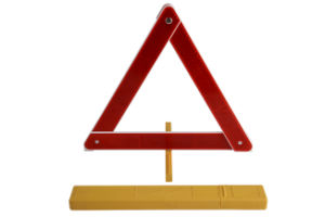 Traffic Lables Warning Triangles Emergency Tools