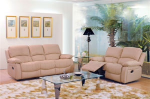 with Leather Sofa Sets Manual Function Furniture for Living Room Used pictures & photos