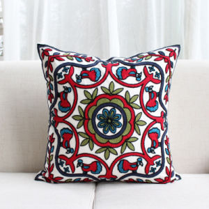 Mulity Embroidery Patterns Cushion Cover pictures & photos