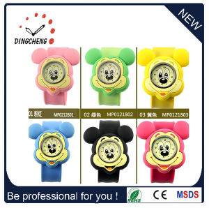 Christmas Gift Quartz Colorful Silicone Digital Slap Watch (DC-088) pictures & photos