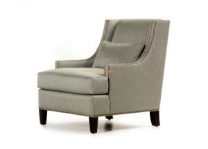 (CL-2227) Wooden Fabric Hotel Chair with Arm for Hotel Furniture pictures & photos