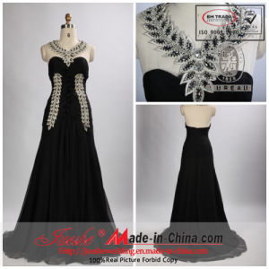 2013 Jueshe New Design Gray Beaded Halter Evening Dress (SZ-J-110309)