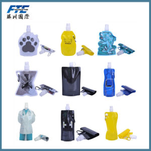Foldable Collapsible Plastic Water Wine Bottle 750ml pictures & photos