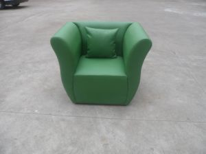 Green Shaped Leather Sofa Chair (FY01) pictures & photos