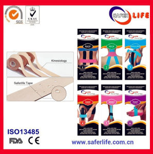 Elastic Waterproof Strong Adhesive Bandage 100% Cotton Kinesiology Precut Tape pictures & photos