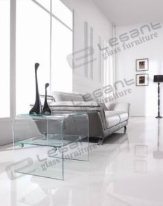 2013 Curved Glass Tea Table/Coffee Table Ns03 pictures & photos