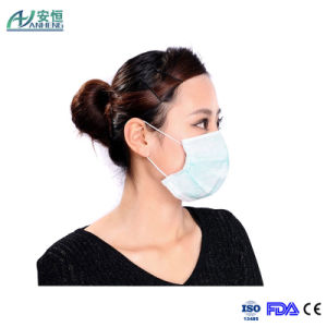 Disposable Medical Nonwoven Face Mask Tie on or Earloop pictures & photos