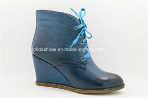 New Comfort Sexy High Heels Lady Wedge Ankle Boots pictures & photos