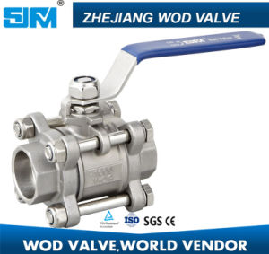 1000psi 1inch 3PC Socket Weld Ball Valve pictures & photos
