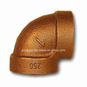 90 Degree Red Brass Extra Heavy Pipe Elbow Fittings pictures & photos