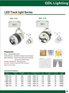 24W COB Sharp Track Light Qdl-315