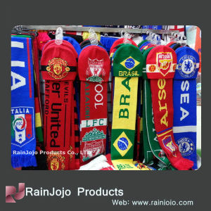 High Quality Football Scarf Acrylic Scarf and Beanie Set pictures & photos