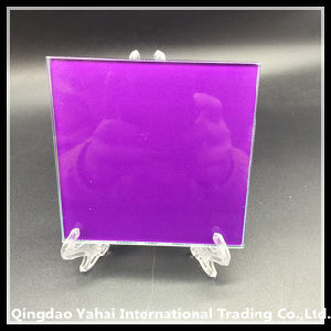 4mm Tempered Glass Coaster with Purple Decal pictures & photos