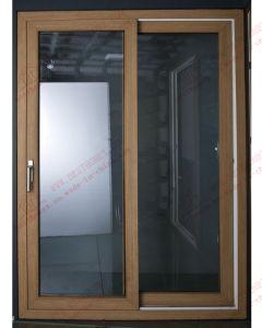 High-Class Woodgrain PVC/UPVC Sliding Door (BHP-SD09) pictures & photos