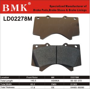High Quality Brake Pad (D2278M) for Japanese Car pictures & photos
