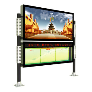 LED Screen Outdoor Standing Aluminum Advertising Light Box pictures & photos