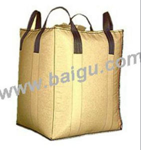 Beige Color Cross Corner PP Big Bag pictures & photos