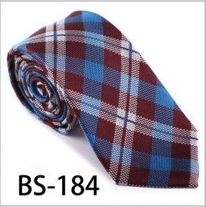 New Design Fashionable Silk/Polyester Check Tie (BS-184) pictures & photos