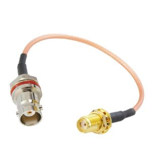 Pigtail Cable BNC Female Bulkhead to SMA Female Rg316 Cable