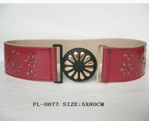 PU Perforated Belt Fl-0677 pictures & photos