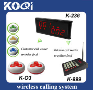 CE Approved 433.92MHz Kitchen Wireless Call Bell System pictures & photos