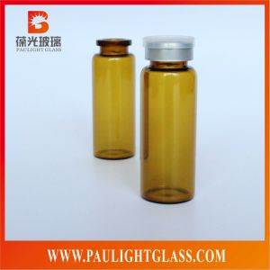 Glass Bottle Medicine Use for Penicillin Essence in Amber Color