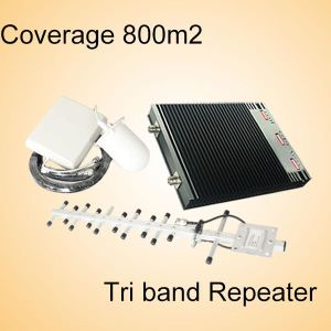 Tri Band Mobile Cover 900/2100/2600MHz, GSM/WCDMA/Lte 4G Mobile Signal Repeater
