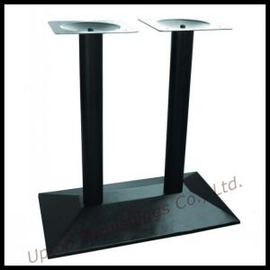 Black Double Column Cast Iron Table Base (SP-MTL147) pictures & photos