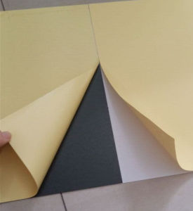 White and Black Self Adhesive PVC Album Sheet pictures & photos