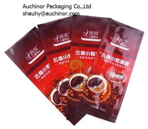 Print Custom Zip Lock Stand up Kraft Paper Coffee Bag with Valve and Zip pictures & photos