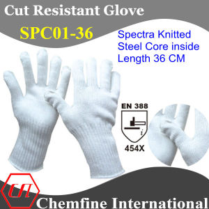 36cm Spectra Knitted Glove with Steel Core Inside/ En388: 454X pictures & photos