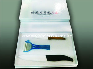 Beautiful Package 3 Parts Ceramic Kitchen Knife Kits pictures & photos