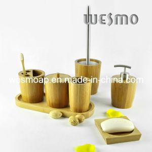 High-End Round Bamboo Bathroom Set (WBB0613A) pictures & photos